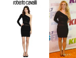 Britney Spears' Roberto Cavalli Sheer Paneled Body Con Dress