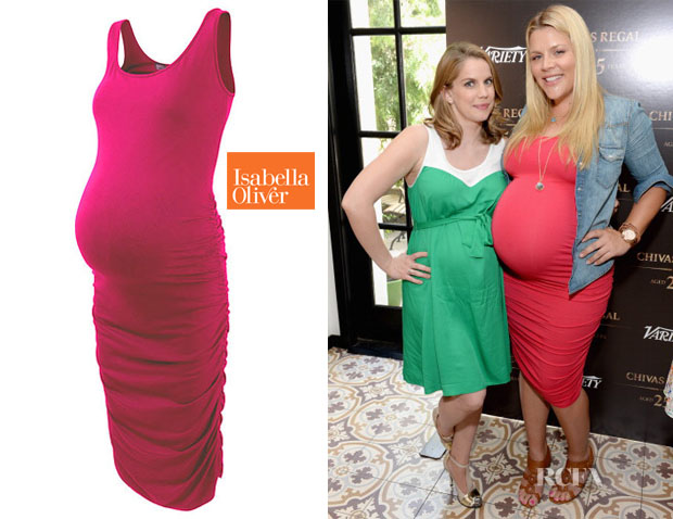Busy Philipps' Isabella Oliver Ruched Maternity Tank Dress