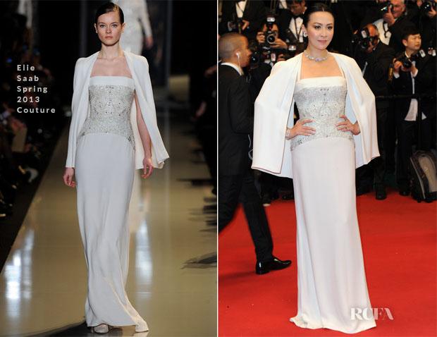Carina Lau In Elie Saab Couture - 'Soshite Chichi Ni Naru' Cannes Film Festival Premiere