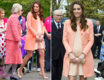 Catherine, Duchess of Cambridge In Tara Jarmon - Naomi House Visit