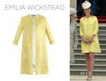 Catherine, Duchess of Cambridge's Emilia Wickstead 'Marella' Silk Coat