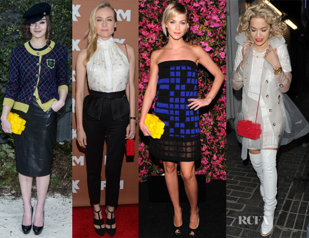 Celebrities Love Chanel Logo Clutches