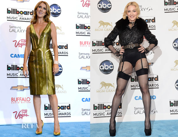 Celine Dion In Atelier Versace & Madonna - 2013 Billboard Awards
