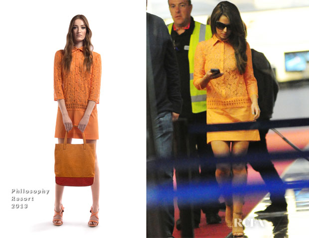 Cheryl Cole In Philosophy - Nice Airport