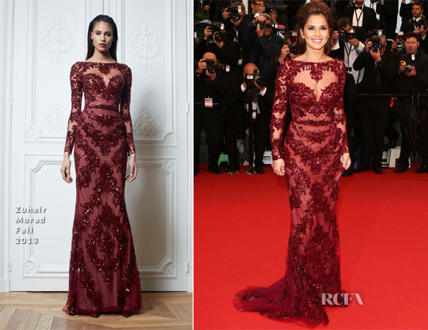 Cheryl Cole In Zuhair Murad - 'Jimmy P (Psychotherapy Of A Plains Indian)' Cannes Film Festival Premiere