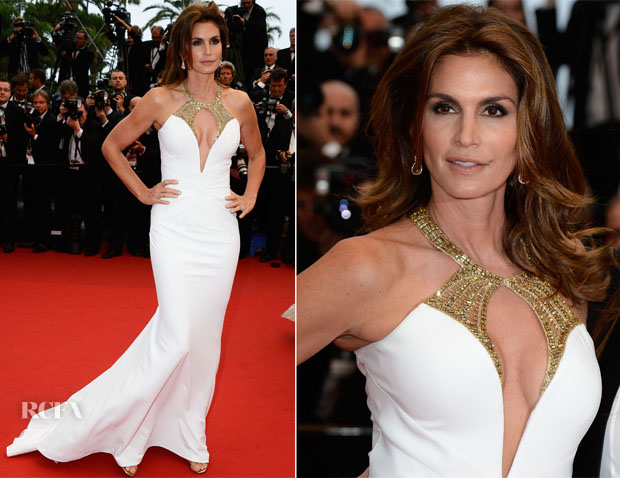 Cindy Crawford In Roberto Cavalli - 'The Great Gatsby' Premiere & Cannes Film Festival Opening Ceremony