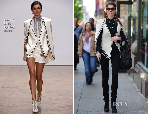 d581949d16 Coco Rocha In Sass   Bide - Out In New York City - Red Carpet ...