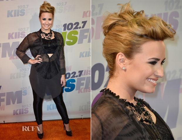 Demi Lovato In Raquel Allegra & Topshop - 102 7 KIIS FM's Wango Tango 2013 Concert