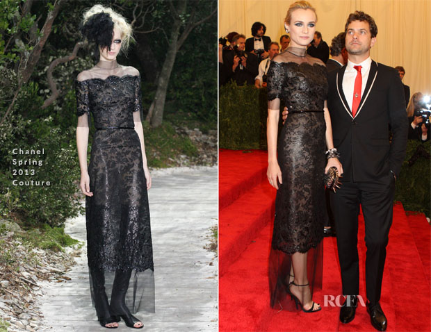 Diane Kruger In Chanel Couture - 2013 Met Gala