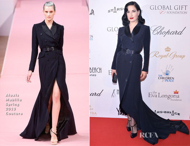 Dita von Teese In Alexis Mabille Couture  -  'Global Gift Gala' 2013
