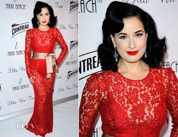 Dita von Teese In Dolce & Gabbana - Cointreau & Nikki Beach Present Dita Von Teese