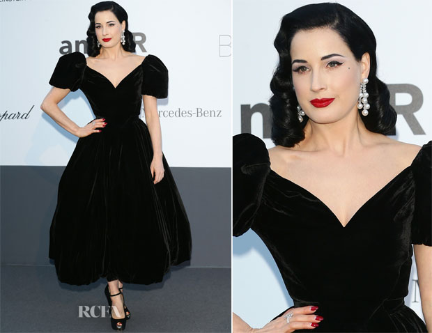 Dita von Teese In Ulyana Sergeenko Couture - amfAR Cinema Against AIDS Gala