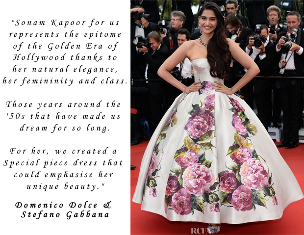 Dolce & Gabbana On Sonam Kapoor