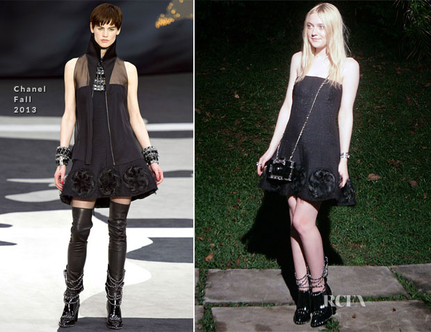 Elle Fanning In Chanel - Front Row @ Chanel Cruise 2014