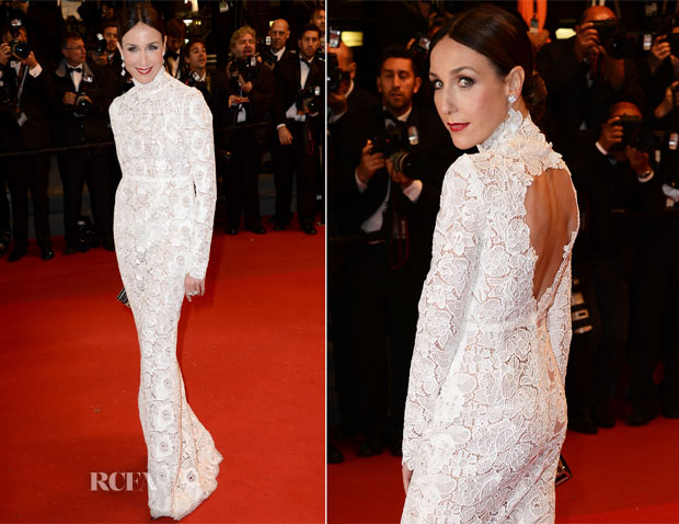 Elsa Zylberstein In Zuhair Murad-  'Only God Forgives' Cannes Film Festival Premiere