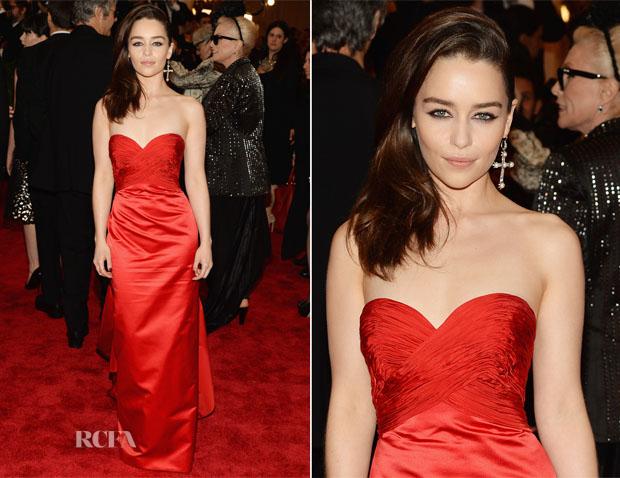 Emilia Clarke In Ralph Lauren - 2013 Met Gala