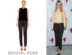 Emma Stone's Michael Kors Fitted Lace Pants