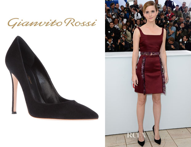 Emma Watson's Gianvito Rossi Pointed Toe Pumps