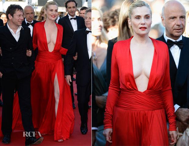 Emmanuelle Seigner In Alexandre Vauthier - 'La Venus a La Fourrure' Cannes Film Festival Premiere