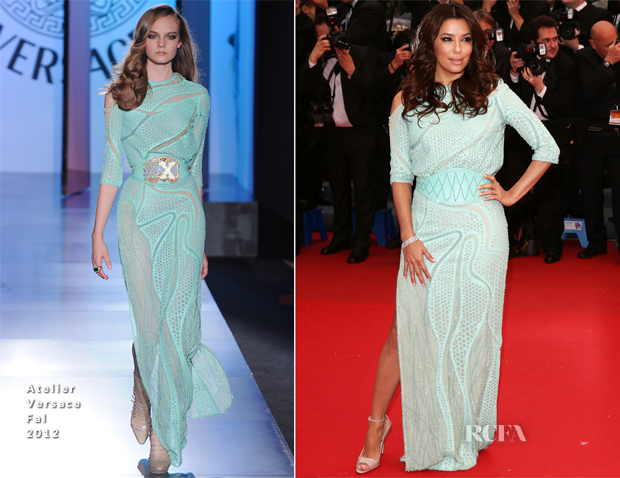 Eva Longoria In Atelier Versace - 'Jimmy P (Psychotherapy Of A Plains Indian)' Cannes Film Festival Premiere