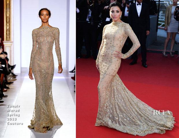 Eva Longoria In Zuhair Murad Couture - 'Le Passe' Cannes Film Festival Premiere