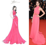 Freida Pinto's 'The Great Gatsby' Cannes Film Festival Premeire Gucci Gown Sketch