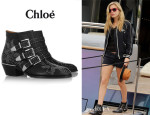 Georgia Jagger May's Chloé Studded Leather 'Susanna' Boots