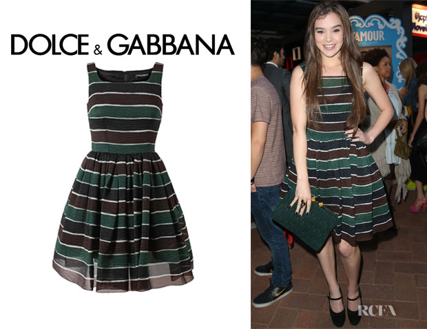 Hailee Steinfeld's Dolce & Gabbana Striped Dress