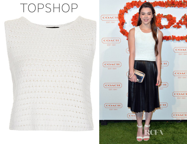 Hailee Steinfeld's Topshop Knitted Vest