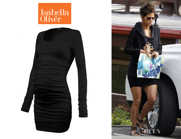 e75b1f205fb8 Halle Berry s Isabella Oliver Layering Scoop Maternity Top