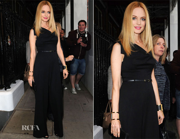 5e5fc5f5548e Heather Graham In Black Halo - The Graham Norton Show - Red Carpet ...