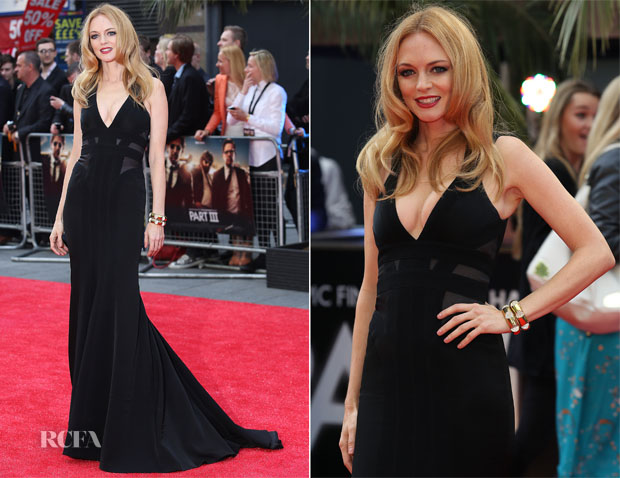 Heather Graham In Max Azria - 'The Hangover III' London Premiere