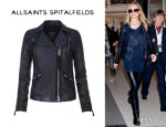 Heather Graham's All Saints 'Level' Leather Biker Jacket