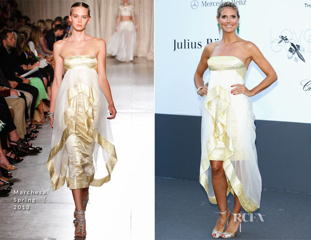 Heidi Klum In Marchesa - amfAR Cinema Against AIDS Gala