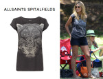 Heidi Klum's All Saints Tigre Boyfriend T-Shirt