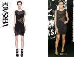 Heidi Klum's Versace Lace Sweater Dress