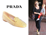 Hilary Duff's Prada Studded Smoking Slippers