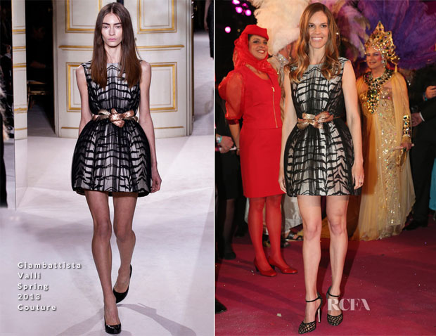 Hilary Swank in Giambattista Valli Couture - Life Ball 2013