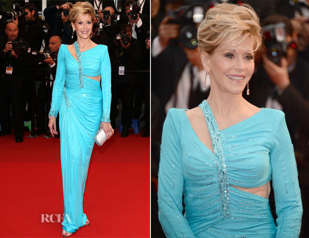 Jana Fonda In Atelier Versace - 'Jimmy P (Psychotherapy Of A Plains Indian)' Cannes Film Festival Premiere