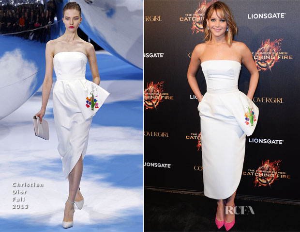 Jennifer Lawrence In Christian Dior - 'The Hunger Games Catching Fire' Cannes Film Festival Party