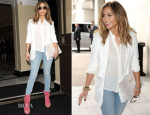 Jennifer Lopez In  Bec & Bridge and J Brand - En Route To BBC Radio 1 Studios