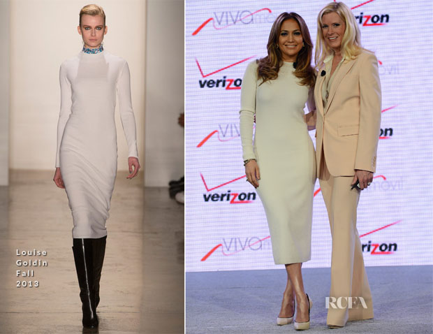 Jennifer Lopez In Louise Goldin -  'Viva Movil by Jennifer Lopez' Verizon Wireless Press Conference