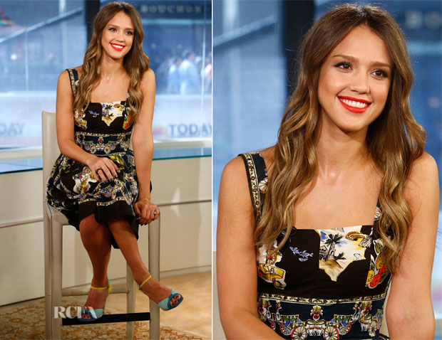 8bf95d233020 Jessica Alba In Dolce   Gabbana - The Today Show - Red Carpet ...