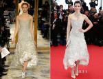 Jessica Biel In Marchesa - 'Inside Llewyn Davis' Cannes Film Festival Premiere