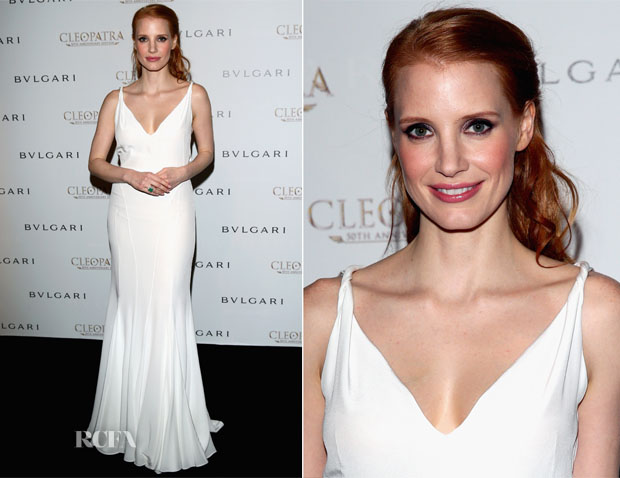 Jessica Chastain In Givenchy - Bulgari Hosts 'Cleopatra' Cocktail