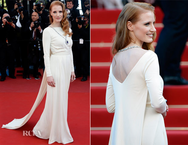 Jessica Chastain In Versace Collection - 'Cleopatra' Cannes Film Festival Premiere