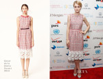 Jessica Stam In Oscar de la Renta - Social Innovation Summit May 2013