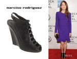 Julianne Moore's Narciso Rodriguez Banded Slingback Wedges