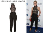 Julie Bowen's Camilla and Marc Lace And Twill Jumpsuit