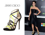 Kate Beckinsale's Jimmy Choo 'Myth' Strappy Suede Sandals